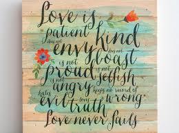 love is patient wall art kohls hobby