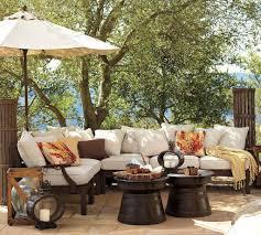rustic outdoor furniture. Angelic Backyard Patio With Rustic Outdoor Furniture Of Sectional Sofa Also Black Tables U