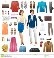 Types Of Design In Fashion Set Of Clothes Fashion Look Style Flat Design Stock Vector