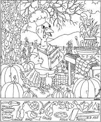 Small Picture Thanksgiving Hidden Picture coloring page Pinteres