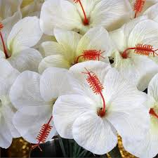 hibiscus flowers 60 pcs silk hibiscus flowers for wedding bouquets centerpieces
