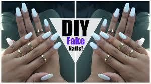 Design Your Own Fake Nails Diy Easy Fake Nails At Home No Acrylic