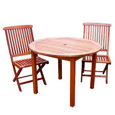 folding patio furniture set. 3pc wooden patio bistro table with chairs set teak stain outdoor furniture new by commercial bargains folding