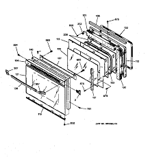 general electric jtp13gt1bb electric wall oven timer stove jtp13gt1bb electric wall oven oven door parts diagram