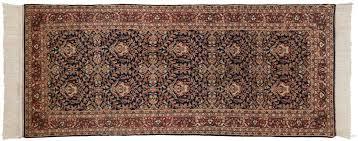 2x7 yezd blue oriental rug runner 033948