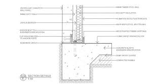 pre cast concrete wall section