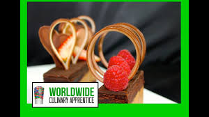 Chocolate Loops Garnish Desert Garnish Desert Decoration Youtube