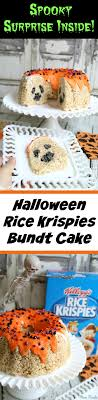 Halloween Bundt Cake Decorations Halloween Rice Krispies Bundt Cake Surprise Inside Ghost Cake