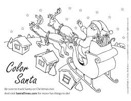 New Of Santa Claus And His Reindeer Coloring Pages Pics Printable