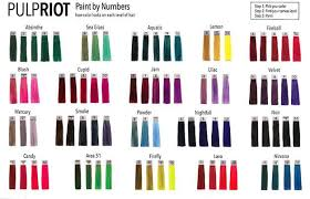 Pulp Riot Swatch Chart Pin On Hair 3