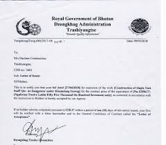 Letter Of Intent To M/s Darchen Construction | Royal Government Of ...