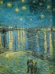 vincent van gogh starry night over the rhone 1888 detailed musee d