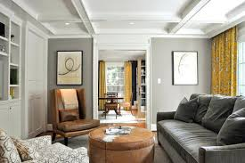 living room designs brown furniture. Gray Walls Brown Furniture Example Of A Trendy Enclosed Living Room Design In Dc Metro With Designs S
