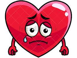 Teared Up Sad Heart Emoji