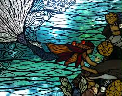Mermaid Stained Glass Pattern New Decorating Ideas