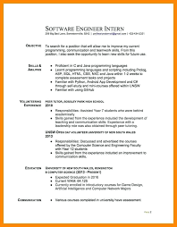 Objective In Resume For Computer Science Objective In Resume For Internship 39
