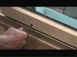 adjusting sliding glass doors you