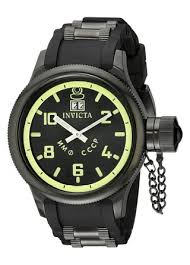 amazon com invicta men s 4338 russian diver collection black invicta men s 4338 russian diver collection black watch