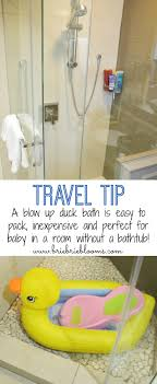travel tip vacation baby bathtub munchkin