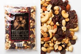 with belgian chocolate chips and peanut er flavored chips in addition to dried cherries roasted salted peanuts and roasted salted cashew pieces and