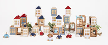 Modern Design Toys Wooden Toy City Lubu Town Creative Play Modern Design Www