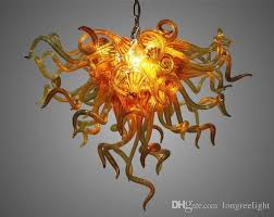 hot amber glass chandelier for home decoration pendant lamps energy saving light source chihuly style hand blown glass chandelier pendant lantern