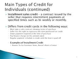 Understand Credit Management 1. 2  What Is Credit? Credit Is The ...