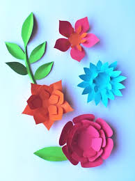 Paper Flower Pattern New Paper Flowers Classroom Craft Activity Easy Make Paper Flowers
