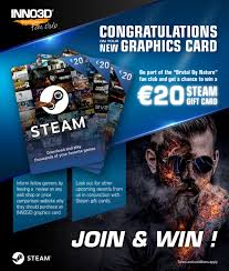 What are steam gift cards? Inno3d Redemption