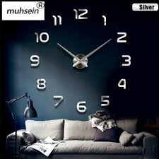 wall clock big mirror