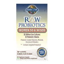 garden of life raw probiotics women 50 wiser 90 capsules