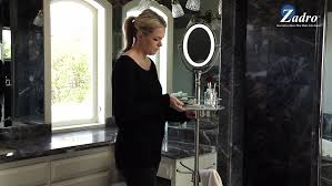 cordless led lighted height adjule floor stand mirror 5x 1x model ledfl45 you