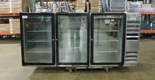 new used restaurant supplies equipment chicago tampa beverage air bb72g commercial back bar glass door refrigerator