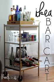 DIY: Gold Ikea bar cart hack! Gold spray paint and a few styling details