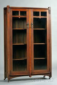 mission style shelves arts and crafts bookcase glass doors solid wood regarding prepare 6 wall shelf mission style