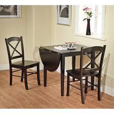 3 Piece Dining Set Amazoncom Tiffany 3 Piece Dining Set Finish Black Table
