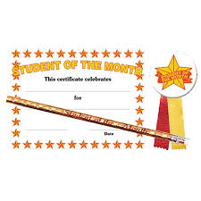 Student Of The Month Certificates Certificate Award Set Student Of The Month Stars Andersons