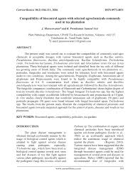 Pdf Compatibility Of Biocontrol Agents With Selected