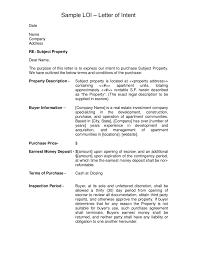 Letter Of Intent Free Letter Of Intent Sample