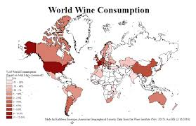 Map The Of Wine Consumption Percentages Week Ubique