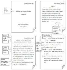 Sample Apa Paper Apa Style Writing Format Example Piqqus Com