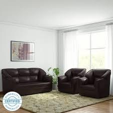 Furniture sofa design New Westido Manhattan Leatherette  Brown Sofa Set Natuzzi Sofa Set Check Sofa सफ Sets Designs At Flipkart Furniture