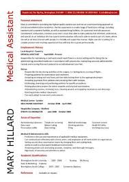 Resume Examples For Medical Assistant Inspiration Resume Samples For Medical Assistant Yelommyphonecompanyco