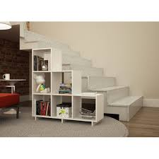 Accentuations by Manhattan Comfort Sophisticated Cascavel Stair Cubby with  6 Cube Shelves - Free Shipping Today - Overstock.com - 18474552