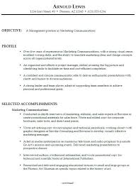 Communications Resume Sample For A Marketing Manager Compliant More