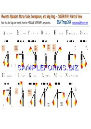 Morse Semaphore Wig Wag Phonetic Chart Pdf Free 9 Pages