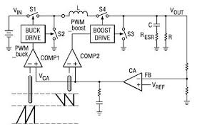 buck boost converters help extend battery life digikey Buck Boost Wiring And Diagram a typical buck boost architecture buck boost wiring diagrams ge