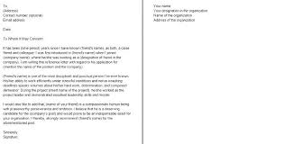 Leadership Letter Of Recommendation Template Recommendation
