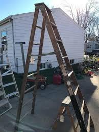 foot warner wood step ladder please wait image to enlarge