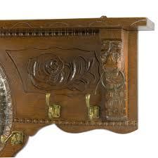 Coat Rack Oak Antique Dutch Coat Rack Oak Wood with mirror 98